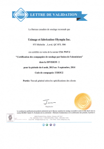 Usinage et Fabrication Olympia | Photo W47.2 FR